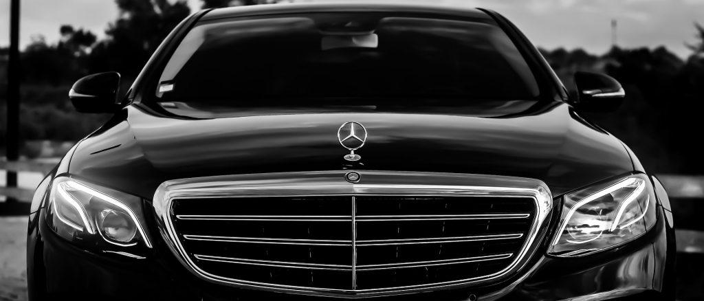 mercedes benz - front part of the car - mercedes benz grill - limousine