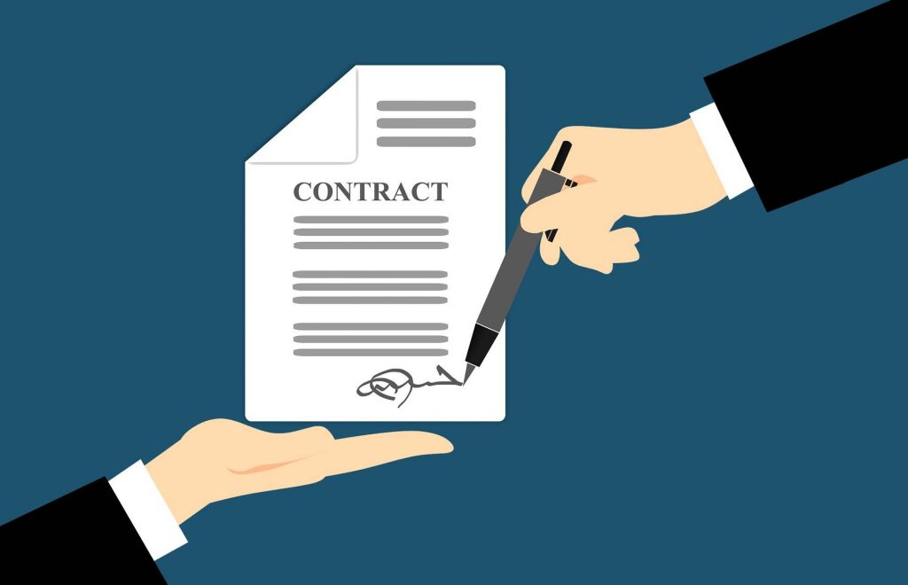 contract - sign a contract with limo company