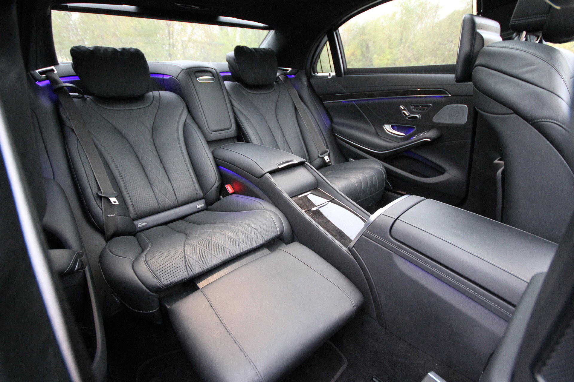 leather seats - inside a limo