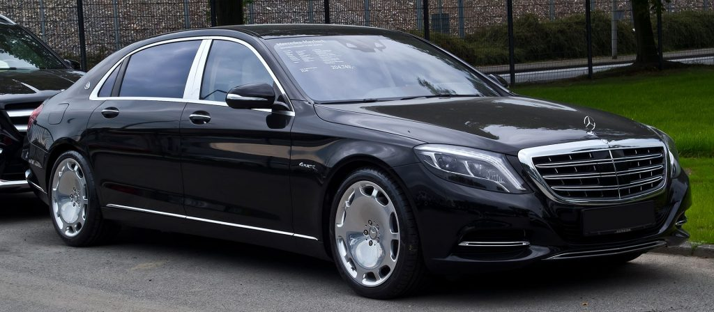 types of limousines - Mercedes Maybach S 500 4MATIC - luxury sedan - black limo