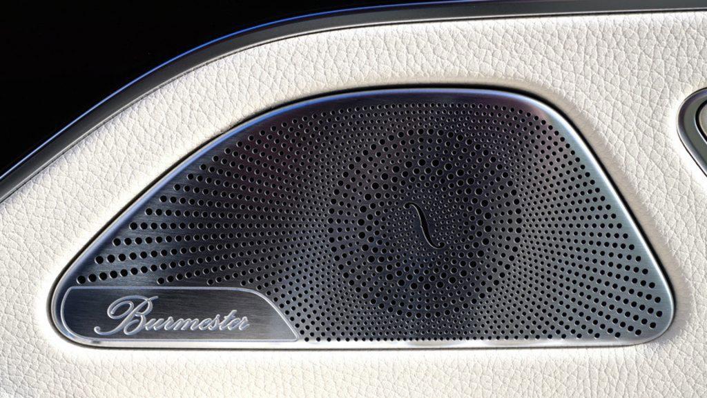 mercedes benz - speaker - elegant design - burmester - inside a limo