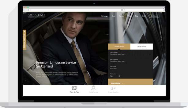 swiss limo - homepage